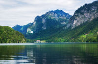 Alpsee lake in German Alps