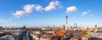 Panorama von Berlin City Skyline mit Fernsehturm