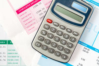 Financial office salary or tax calculation