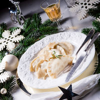 traditional christmas pierogi