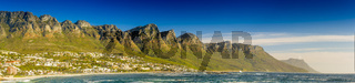 Panorama of the Twelve Apostles in South Africa