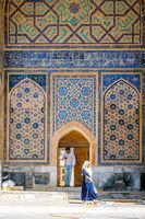 People at Samarkand Registan, Uzbekistan