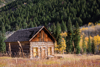 An old abandoned home in Ashcroft, Colorado