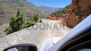 Gravel road through the Taurus Mountains, Turkey