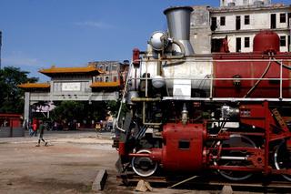 Dampflok,Chinatown,Havanna,Kuba
