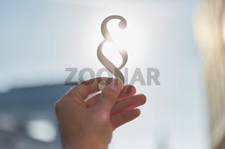 Symbol für die Idee von Recht und Gesetz