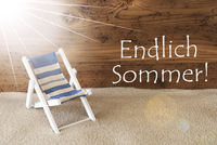Sunny Greeting Card, Endlich Sommer Means Happy Summer