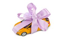 Car with bow as gift