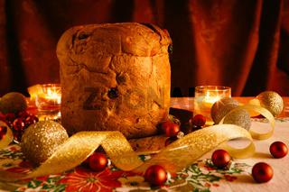 Christmas cake and Christmas decorations