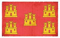 Grunge flag of Poitou-Charentes (France)