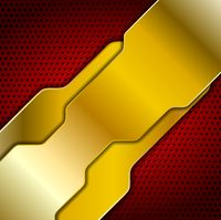 Bright abstract golden design