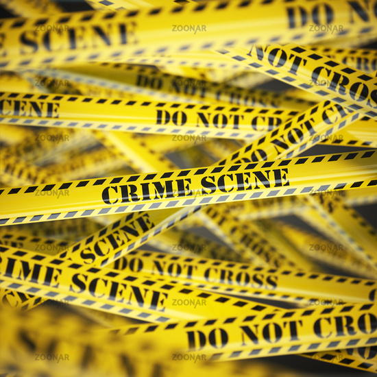 Crime scene yellow caution  tape background. Security concept.