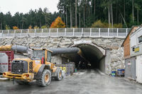 Tunnel construction site Brenner Base Tunnel