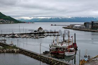 Harbour in Tromso, Norway