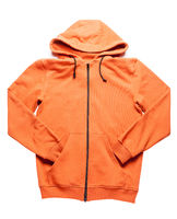 orange hoodie isolated on white backgroud