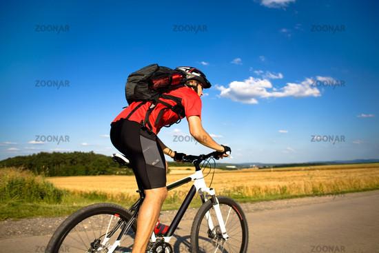 biking man