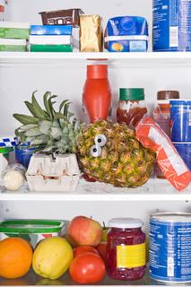 pineapple in fridge