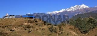 Annapurna range seen from Ghale Gaun