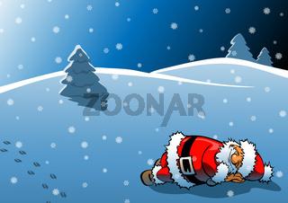 Schlafender Weihnachtsmann