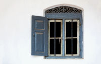 window in a white wall