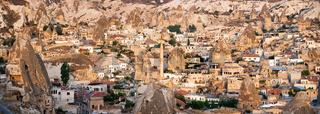 Cappadocian landscape by Goreme, Turkey