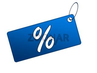 Prozentkarte blau