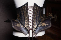 Handmade, Leather Art Deco corset