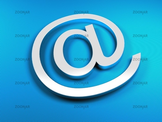 E-mail blue sign