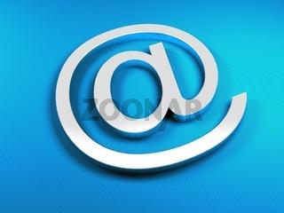 E-mail blue sighn
