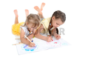sisters draw on the album.