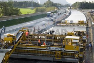 Bau einer Autobahntrasse, Salzburg, Österreich
