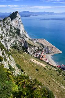 Rock of Gibraltar Slope at Mediterranean Sea