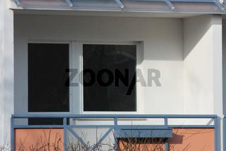 Balkon einer Einraumwohnung