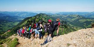 Panoramaaussicht aufs Alpenvorland vom Hochgrat
