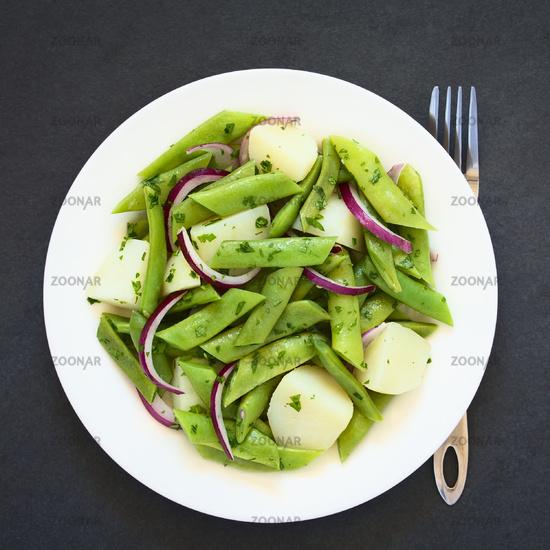 Green Bean, Potato and Onion Salad