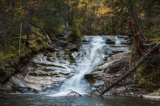 Waterfall on river Shinok
