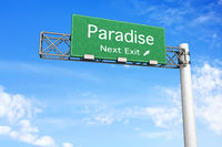 Highway Sign - Paradise