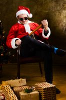 Bad Santa with baseball bat