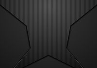 Abstract black geometric concept striped design