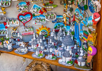 ALBEROBELLO, ITALY - Trulli di Alberobello souvenirs for tourists