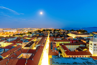 Night view of Zadar