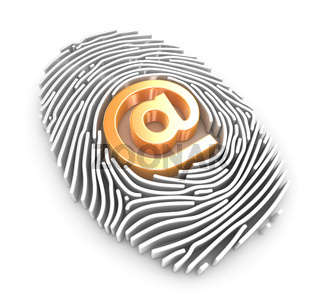 Fingerprint and At Symbol