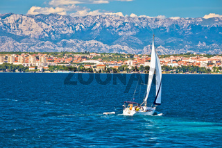 Sailing in Zadar waterfront summer view