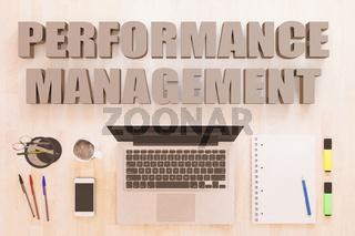 Performance Management text concept