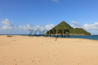Beach and small island in Grenada