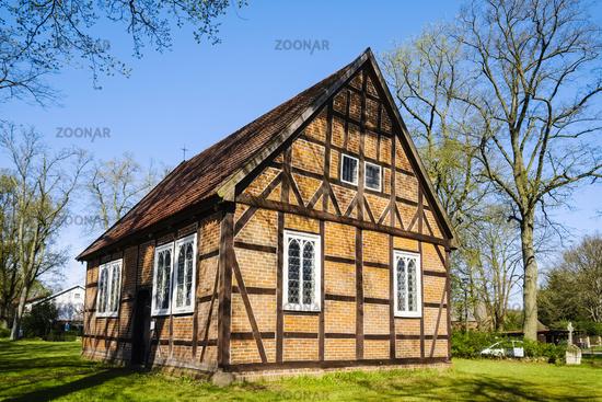 Church in Ziegendorf, Mecklenburg Western Pomerania, Germany