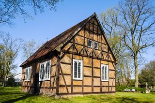 Fachwerkkirche in Ziegendorf, Landkreis Ludwigslust-Parchim, Mecklenburg-Vorpommern, Deutschland