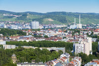 aerial view to Stuttgart city