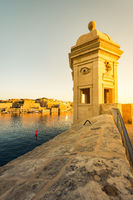 Sunrise over Valletta,Malta seen from Senglea
