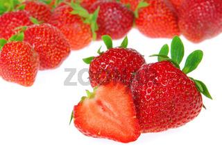 Erdbeere freigestellt